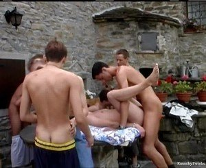 Ten Raunchy Boys In A Wild Outdoor