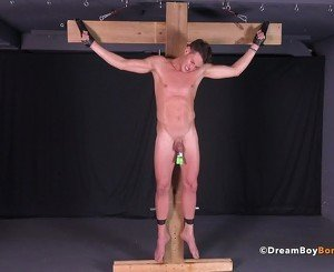 Twink Crucified Whipped Jerk Off