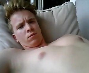 Cute German Boy Cums On His Face