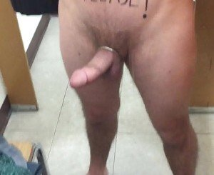 Public Store Fitting Room Wank with