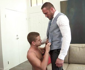 DylanLucas Suited Up Daddy Takes