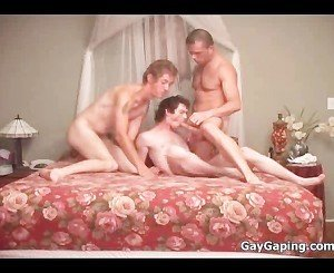 Three gays suck dicks and fuck